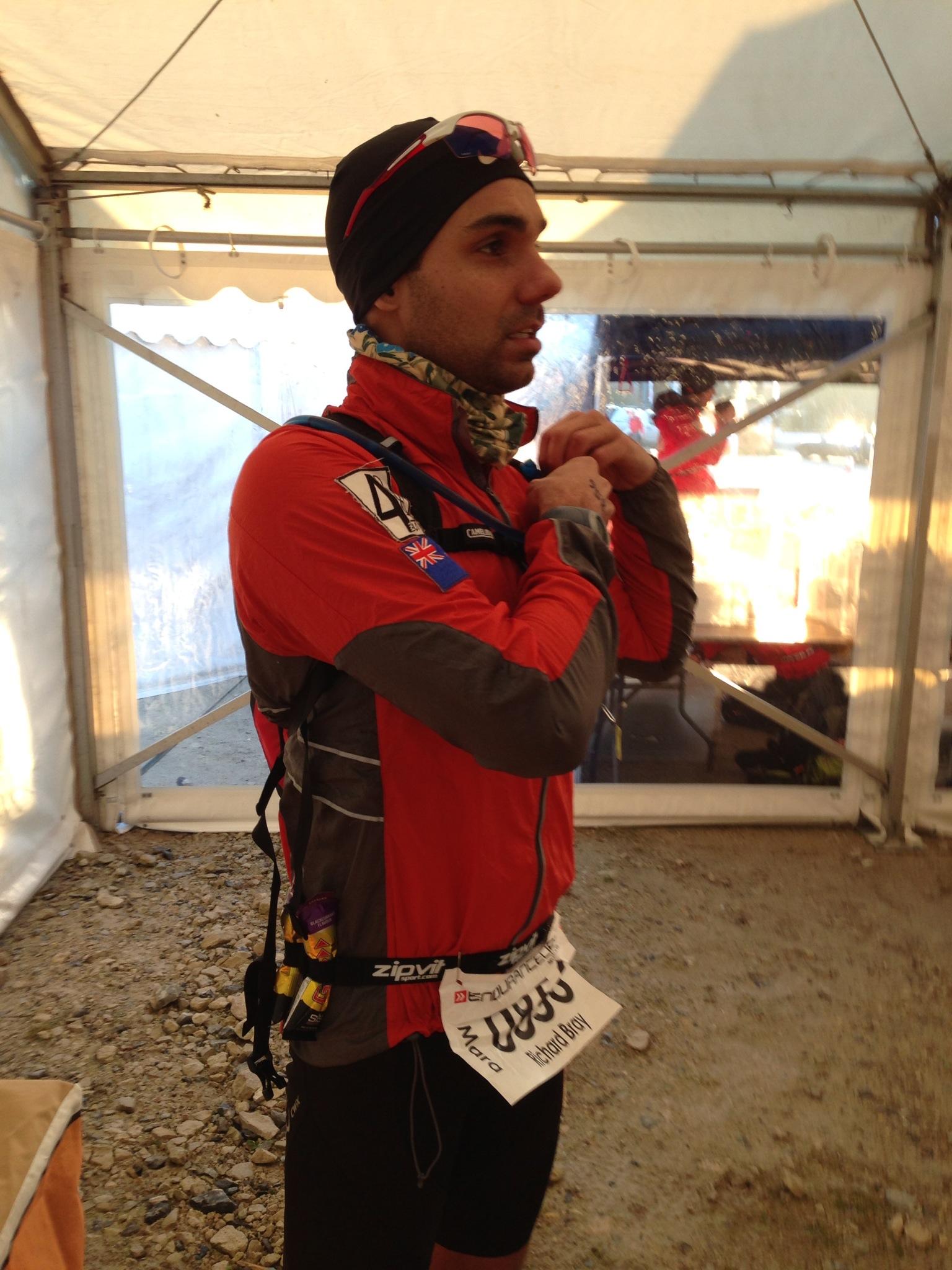 Richard Bray before the start of the Endurance Life Dorset Marathon